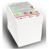 qual o valor de impressão de 1000 folhetos Jardim Primavera
