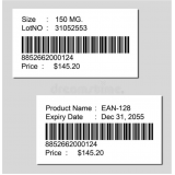 venda de etiquetas código barras personalizada Vila Santana